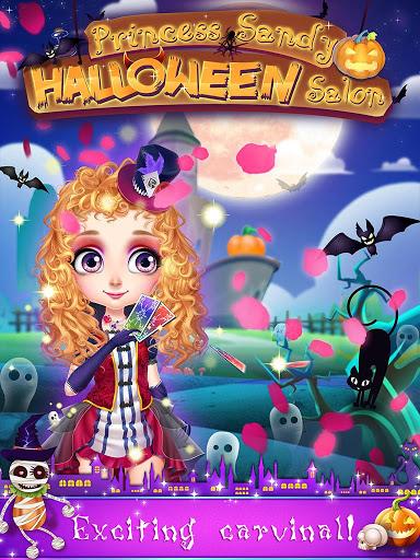 بازی اندروید شاهزاده سندی - سالن هالووین - Princess Sandy:Halloween Salon