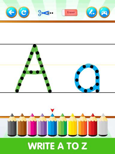 بازی اندروید انگلیسی بنویسید - ABC123 English Alphabet Write