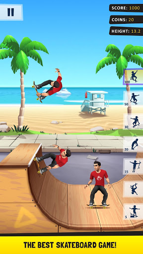 بازی اندروید اسکیت باز - Flip Skater