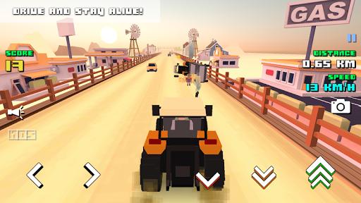 بازی اندروید شبیه ساز مزرعه - Blocky Farm Racing & Simulator
