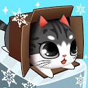 گربه کوچولو داخل جعبه