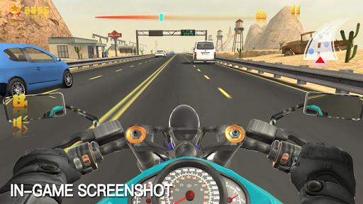 بازی اندروید مسابقه موتور جاده ای - Moto Racing Rider