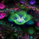 پس زمینه گل فانتزی