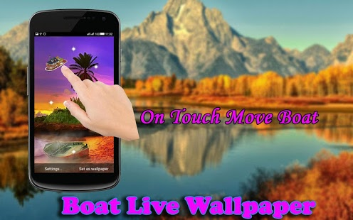نرم افزار اندروید پس زمینه زنده قایق - Boat LiveWallpaper