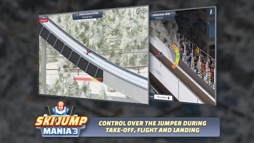 بازی اندروید اسکیت سوار - Ski Jump Mania 3