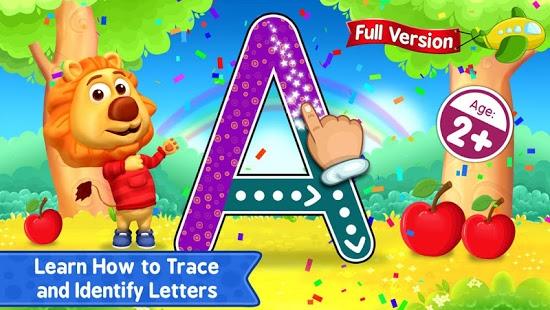 بازی اندروید یادگیری حروف زبان لاتین - ABC Kids - Tracing & Phonics