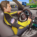 مسابقه ترافیک بزرگراه - راننده خودرو