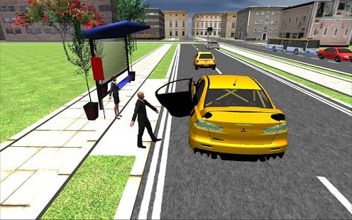 بازی اندروید راندن تاکسی در شهر بزرگ - Big City Taxi Drive Simulation