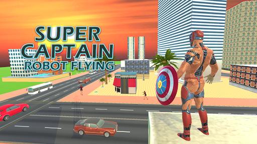 بازی اندروید  ربات سوپر قهرمان - شهر جنگی نیویورک - Superhero Captain Robot Flying Newyork City War