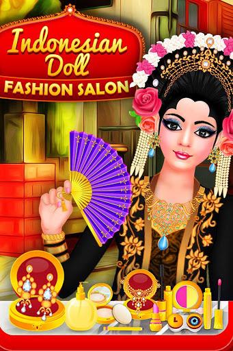 بازی اندروید لباس عروسک اندونزیایی - سالن آرایش - Indonesian Doll Fashion Salon Dress up & Makeover