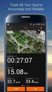 نرم افزار اندروید ردیاب ورزشی - Sports Tracker Running Cycling