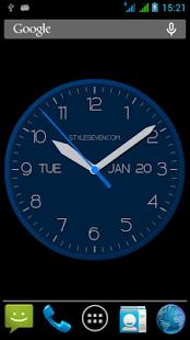 نرم افزار اندروید ساعت آنالوگ مدرن - Modern Clock for Android-7