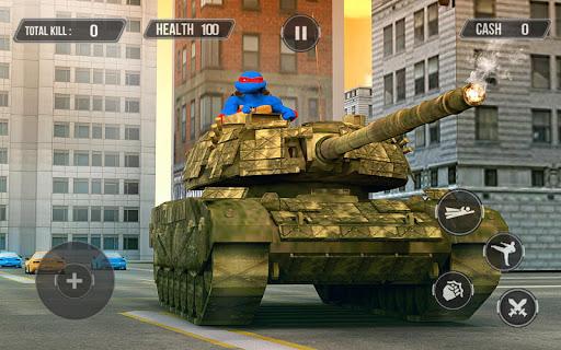 بازی اندروید لاک پشت نینجا جنگجوی تاریکی - حمله تانک - Turtle Warrior Dark Ninja: Tank Attack