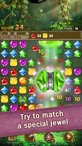 بازی اندروید پازل جواهرات جنگل - Jewels Jungle : Match 3 Puzzle