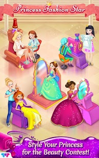 بازی اندروید مسابقه پرنسس ستاره - Princess Fashion Star Contest