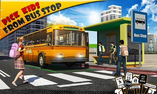 بازی اندروید راننده اتوبوس مدرسه - Schoolbus Driver 3D SIM