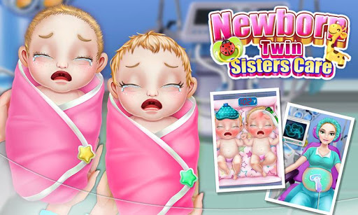 بازی اندروید مراقبت از خواهران دوقلو  - Newborn Twin Sisters Care