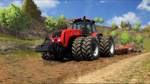 بازی اندروید راندن تراکتور سه بعدی مزرعه - Tractor Drive 3D : Offroad Sim Farming Game