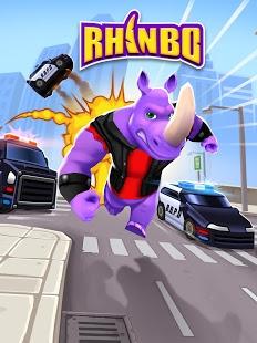 بازی اندروید رینبو کرگدن دونده - Rhinbo