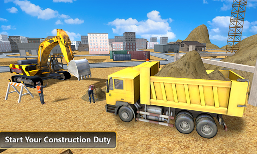بازی اندروید کامیون کمپرسی سنگین - Heavy Excavator Dump Truck 3D