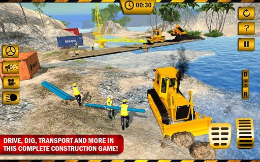 بازی اندروید  ساخت پل در رودخانه - River Road Bridge Construction