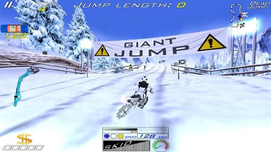 بازی اندروید موتور برفی - XTrem SnowBike