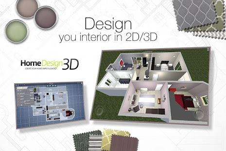نرم افزار اندروید طراحی منزل - Home Design 3D - FREEMIUM