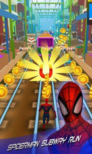 بازی اندروید مرد عنکبوتی مترو - Subway Spider Rush 2