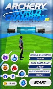 بازی اندروید قهرمان کمانداری جهان - Archery World Champion 3D