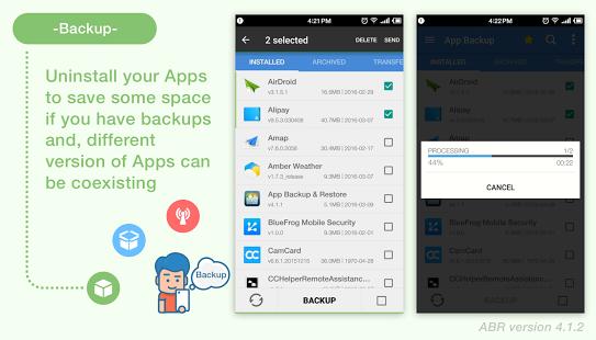 نرم افزار اندروید پشتیبان گیر برنامه ها - App Backup & Restore