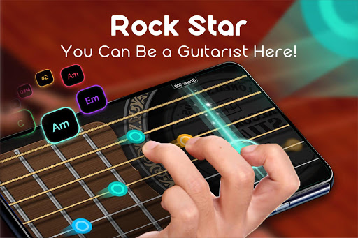 بازی اندروید گیتار واقعی موسیقی - Real Guitar - Free Chords, Tabs & Music Tiles Game
