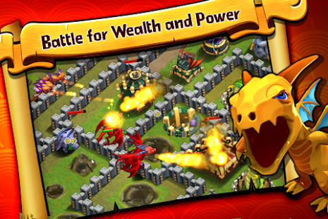 بازی اندروید نبرد اژدها - Battle Dragons:Strategy Game