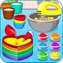 پخت کیک رنگارنگ