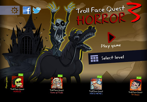 بازی اندروید جستجوی چهره چرخان - ترساناک 3 - Troll Face Quest: Horror 3