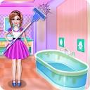 تمیز کردن خانه دخترانه دبیرستانی