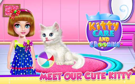 بازی اندروید مراقبت از بچه گربه - Kitty Care and Grooming