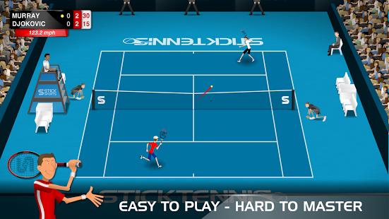 بازی اندروید استیک تنیس - Stick Tennis