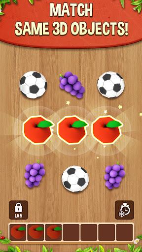 بازی اندروید تطبیق سه گانه سه بعدی - بازی تطبیق پازل - Match Triple 3D - Matching Puzzle Game