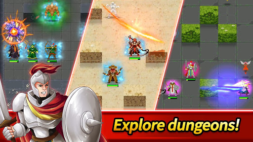 بازی اندروید قهرمانان سیاه چال - شکارچی بی درنگ - Dunidle: Dungeon Crawler & Idle Hunter Boss Heroes