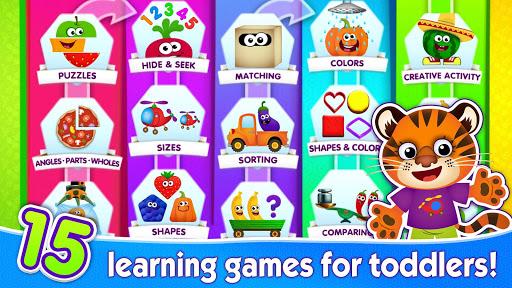بازی اندروید بازی های مهد کودک برای کودکان و نوجوانان - FUNNY FOOD 2! Kindergarten Games! Puzzles for Kids