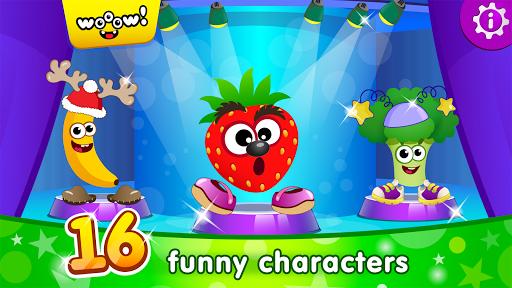 بازی اندروید بازی های خنده دار مواد غذایی برای کودکان - Funny Food DRESS UP games for toddlers and kids!😎