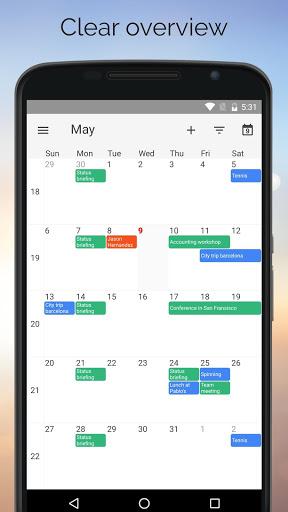 نرم افزار اندروید یک تقویم - One Calendar
