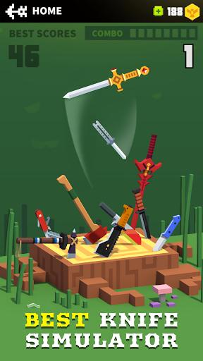 بازی اندروید پرتاب چاقو - Flippy Knife