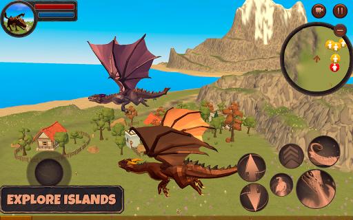 بازی اندروید شبیه ساز اژده ها - بازی ماجراجویی - Dragon Simulator 3D: Adventure Game