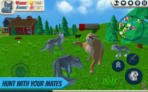 بازی اندروید شبیه ساز گرگ - حیوانات وحشی - Wolf Simulator: Wild Animals 3D