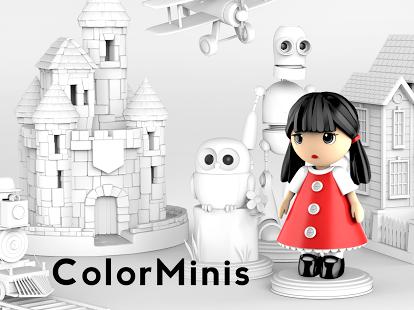 بازی اندروید رنگ آمیزی کودکانه - ColorMinis Kids