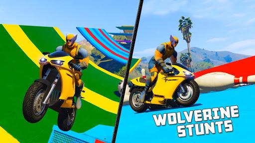بازی اندروید مسابقه موتور سنگین - Superhero Tricky bike race (kids games)