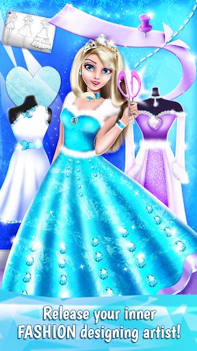 نرم افزار اندروید طراح لباس پرنسس یخی - Ice Princess Dress Designer