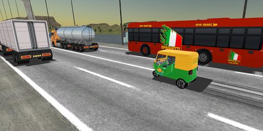 بازی اندروید موتور سه چرخ تو ک توک در ترافیک سنگین 2017 - Tuk Tuk traffic Racer Auto Rickshaw Heavy sim 2017