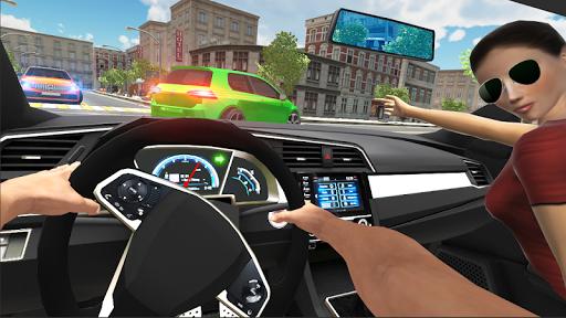 بازی اندروید شبیه ساز ماشین شهر - رانندگی شهری - Car Simulator Civic: City Driving